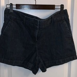 "Loft Dark Denim 6"" Shorts w/back pockets"